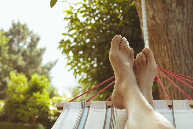 relaxing in a hammock, plan your ideal staycation