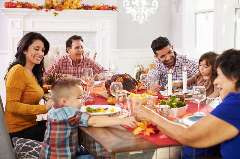 family at Thanksgiving dinner, vegetarian Thanksgiving dish